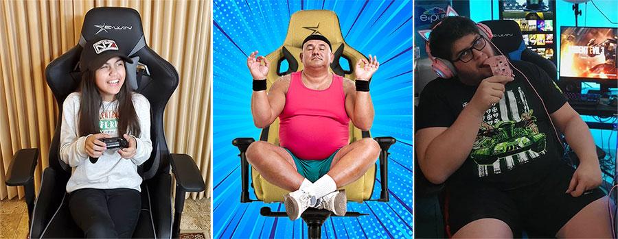 E-Win Flash XL chair dimensions