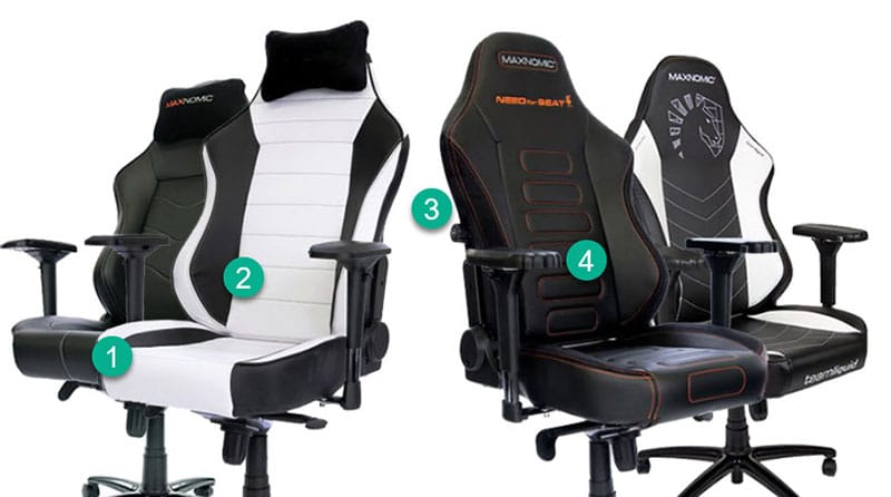 Maxnomic OFC chair differences
