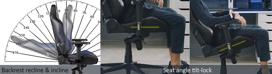 Gaming chair adjustable features