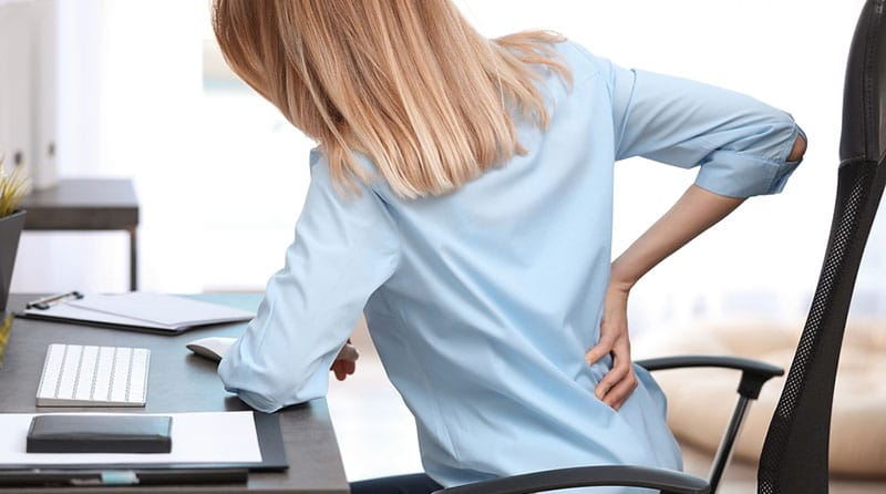 Back pain using a cheap office chair