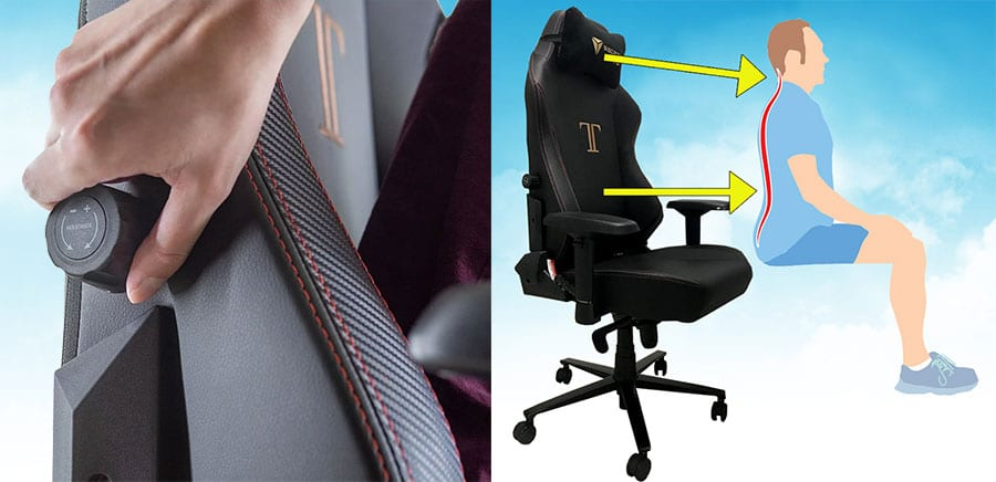 Secretlab Titan internal lumbar support system