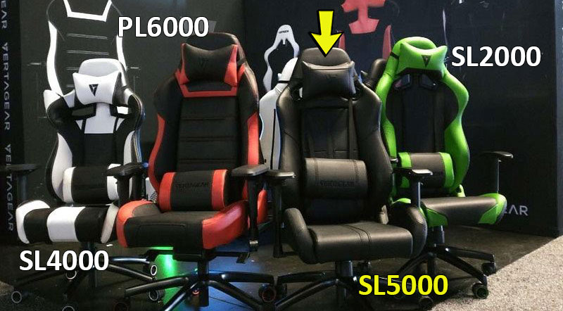 Vertagear chairs size comparison