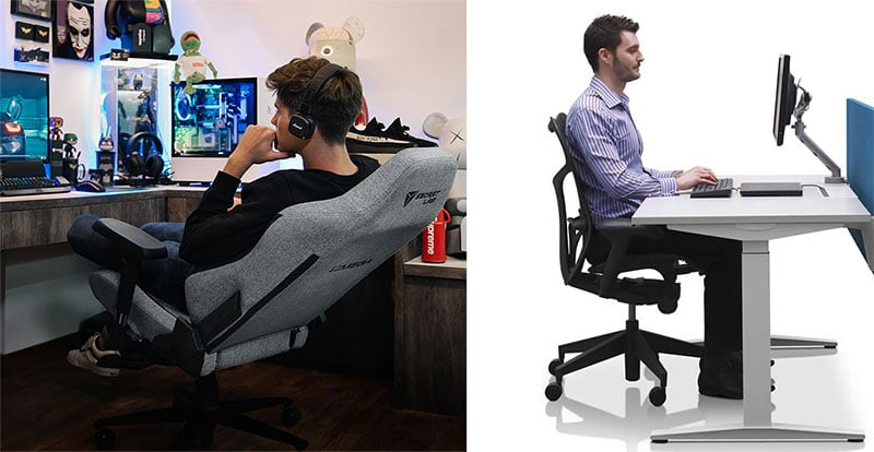 Ergonomic chair working positions