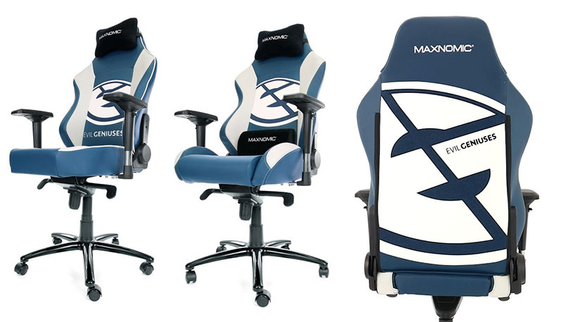 Maxnomic Evil Geniuses pro esports gaming chairs