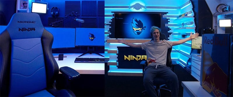Ninja's home streaming studio