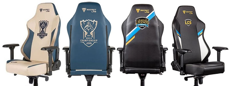 Secretlab League of Legends tournament chairs