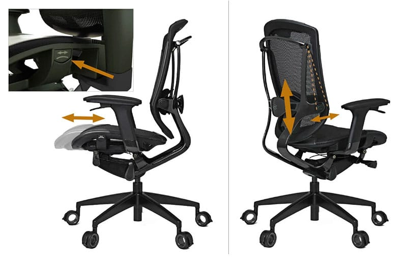 Vertagear Triiger 350 back support features