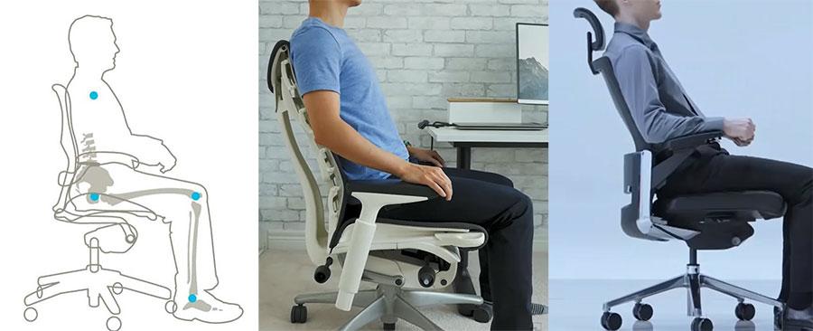 Ergonomic task chair healthy posture