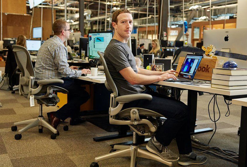 Zuckerberg Aeron chair Facebook office