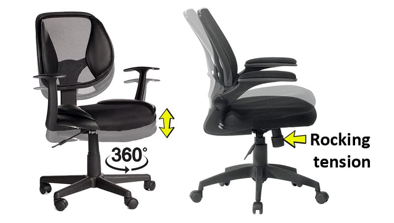 Common office chair features