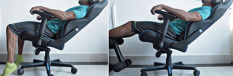 Gaming chair deep recline plus seat tilt