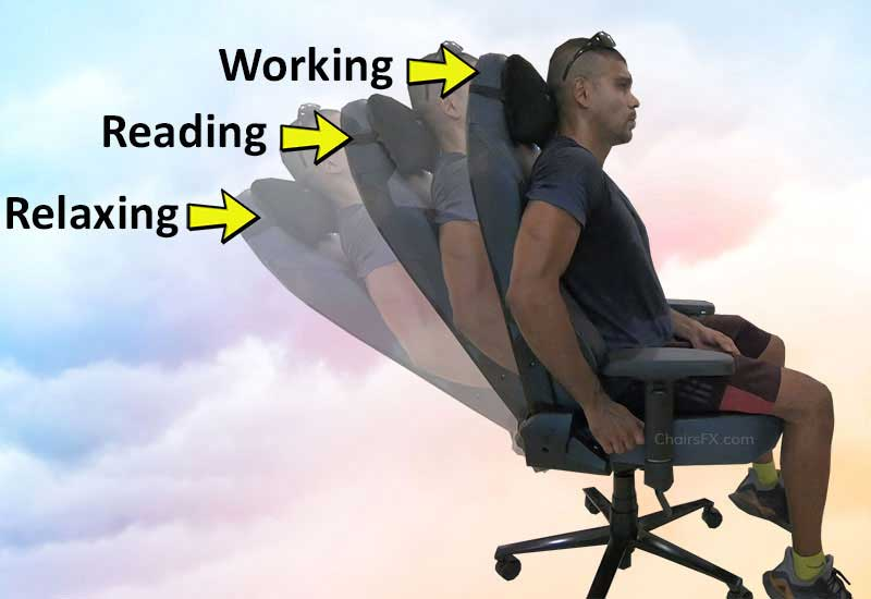 Gaming chair recline modes