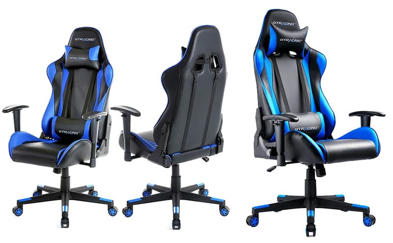 GTRacing Pro Series GT002 blue gaming chair