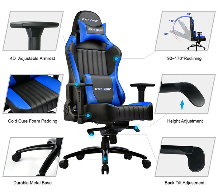 GTK002 Luxury chair features