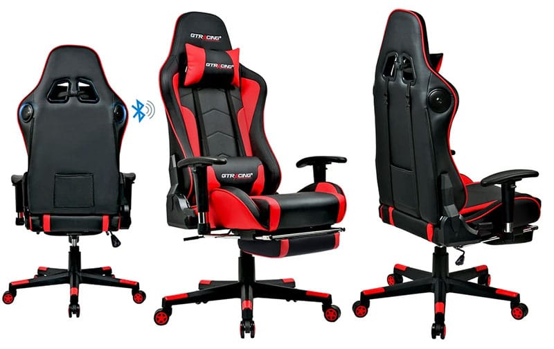 GTRacing GT890 footrest music chair