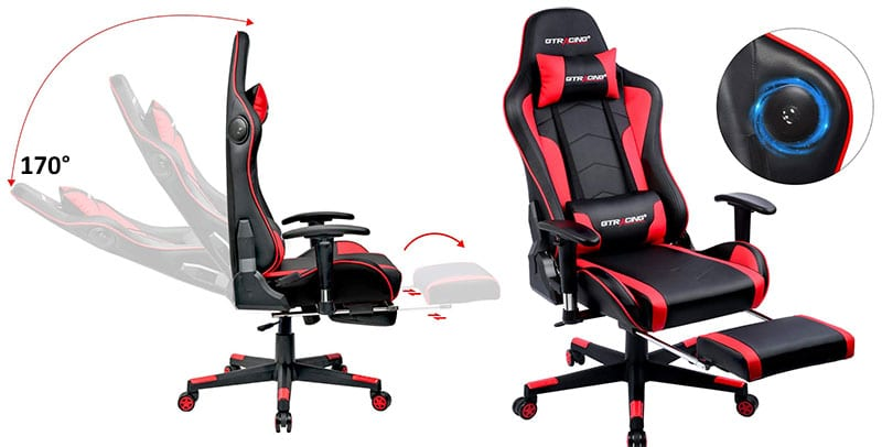 GT890 music footrest gaming chair by GTRacing