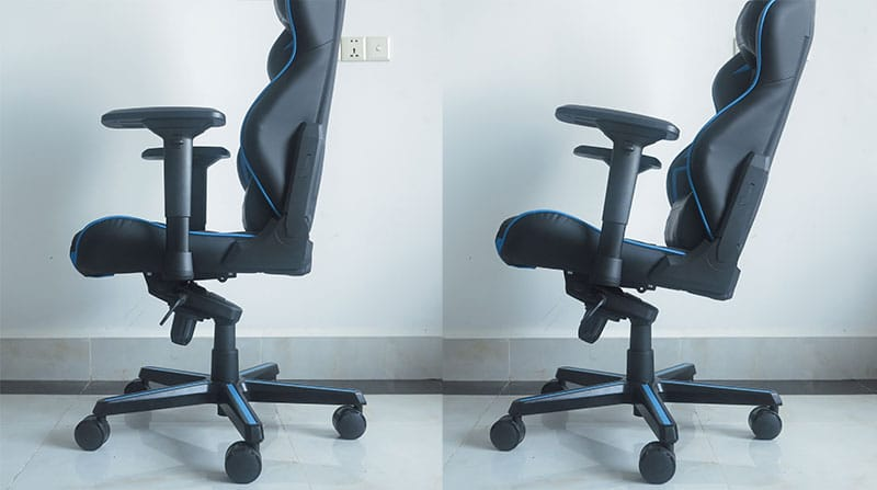 Gaming chair tilt lock feature in pictures