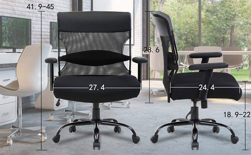 BestOffice 500 pounds ergonomic office chair