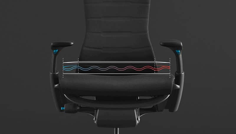 Herman Miller Embody gaming chair seat