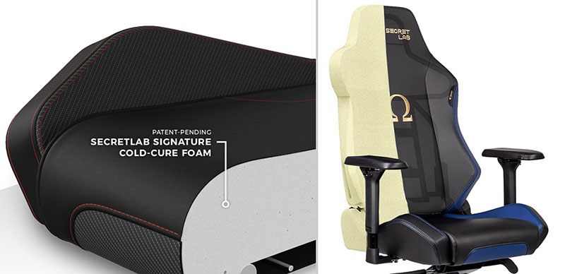 Omega 2020 chair cold foam padding