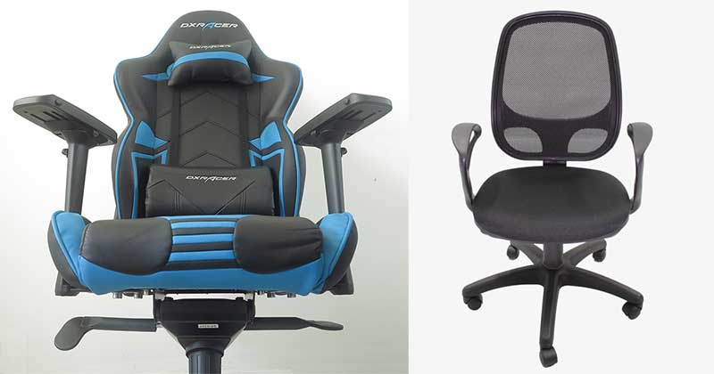 Office chair vs gaming chair comparison