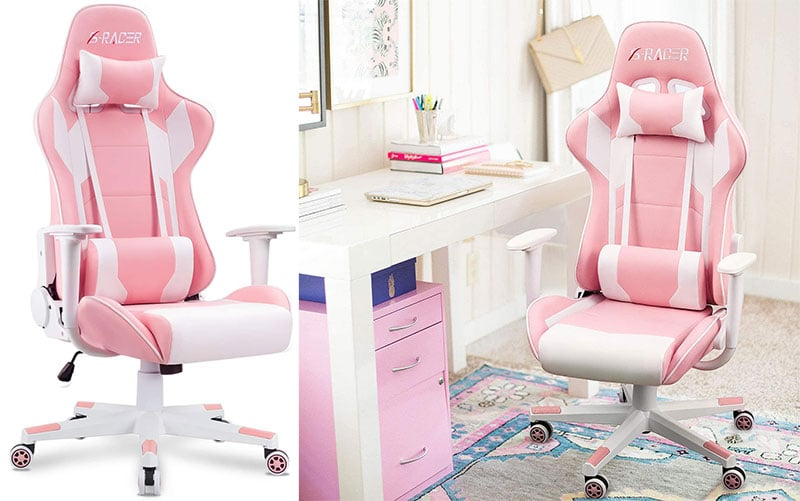 Homall pink gaming chair