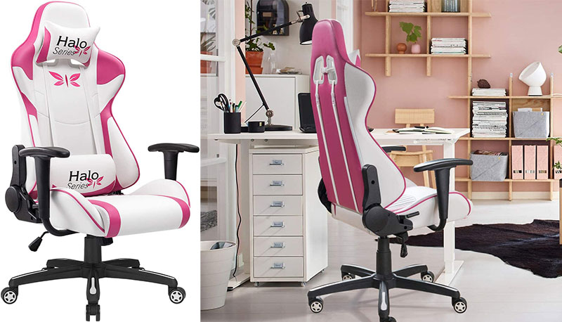 Jummico Halo Series pink gaming chair