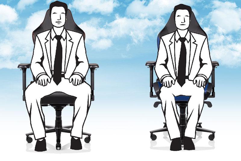 Secretlab Titan vs Omega sitting styles
