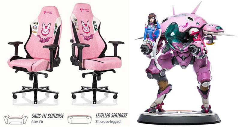 Secretlab pink gaming chairs