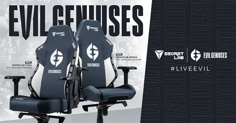 Secretlab official Evil Geniuses chairs
