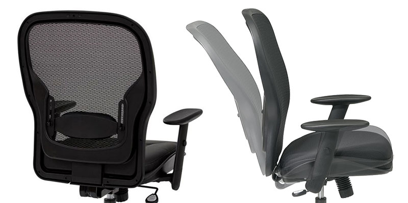 Space Seating chair ergonomic features