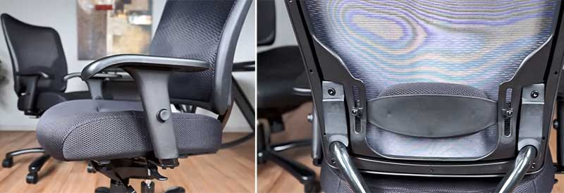 Space seating chair features