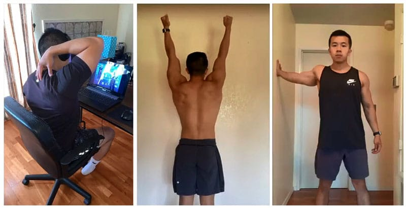 Mobility and posture exercises for gamers