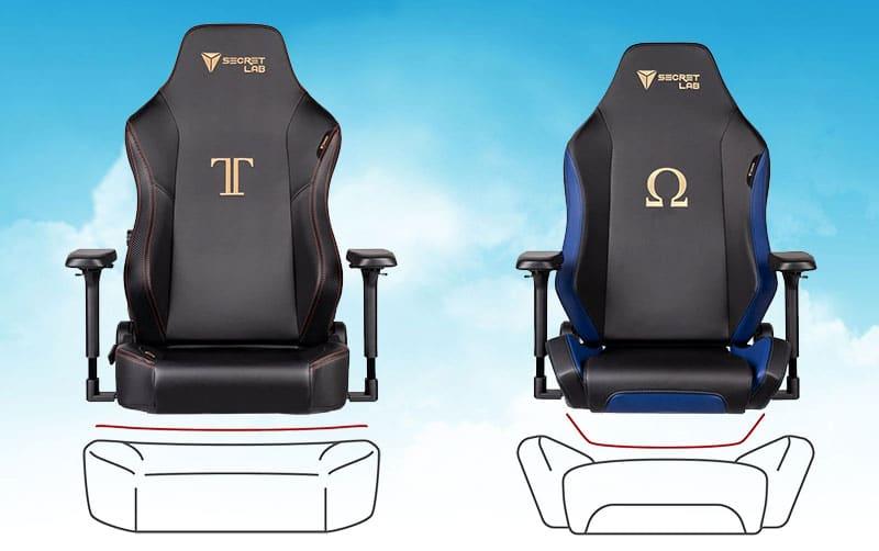 Secretlab Titan vs Omega seat style