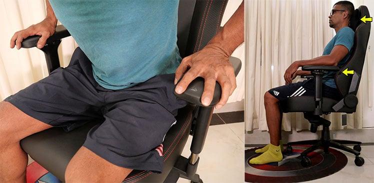 Secretlab Titan posture support tips