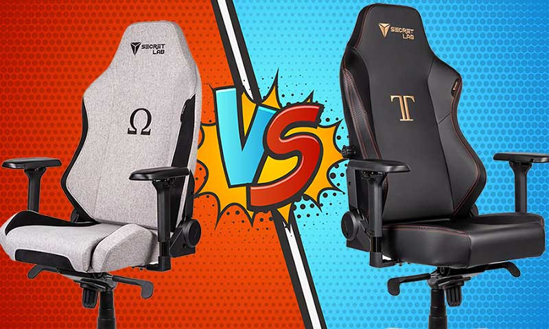 Secretlab Omega versus Titan review