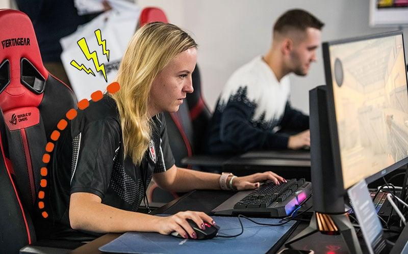 Dangers of poor gaming posture habits