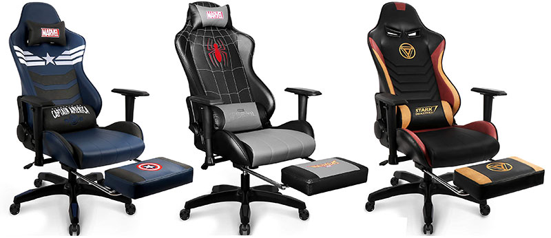 Marvel footrest gaming chairs