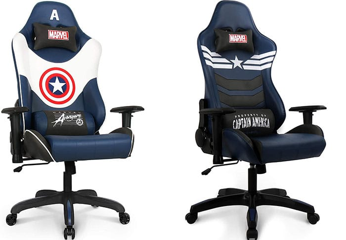 Big and tall Captain America gaming chairs