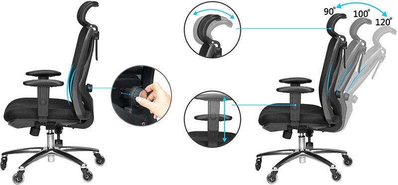 Duramont ergonomic chair features
