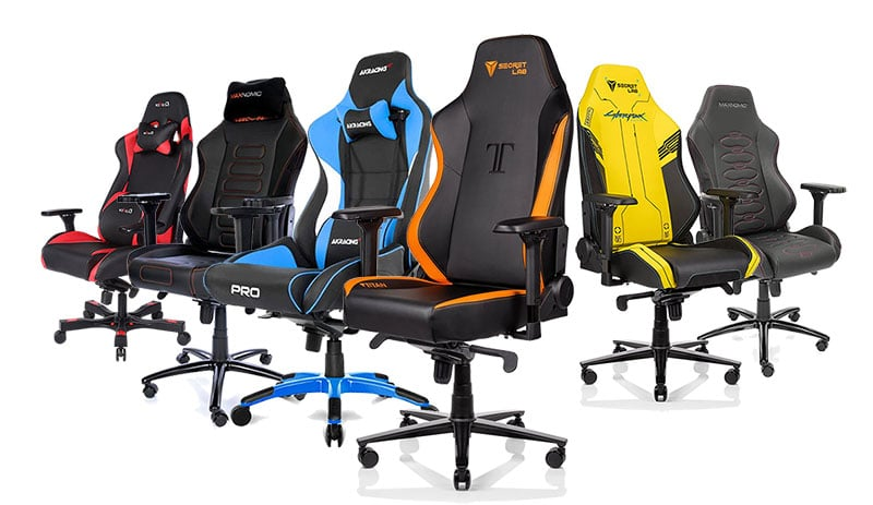 Large and small pro gamer gaming chairs