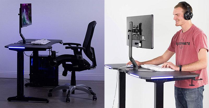 Ergonomic chair plus sit-stand desk
