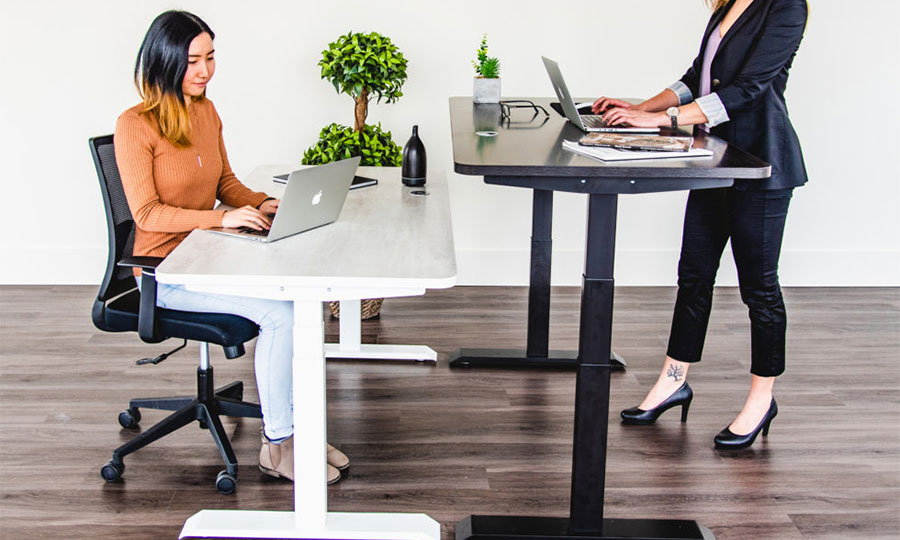 MotionGrey sit-stand ergonomic desks