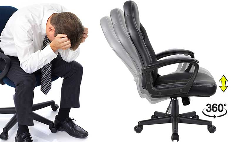 Traditional office chair features