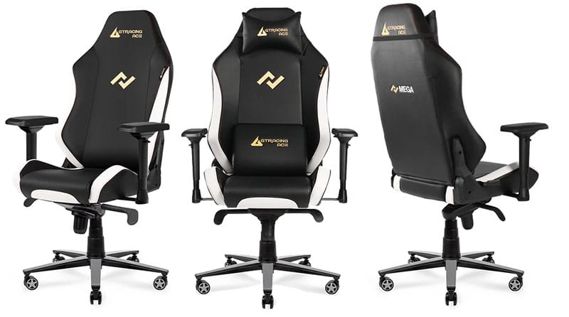 Ace M1 Series white gaming chairs