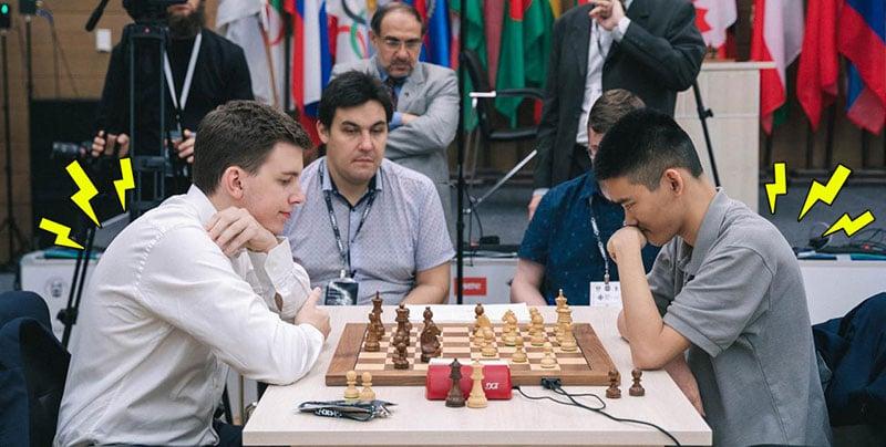 Bad posture chess players