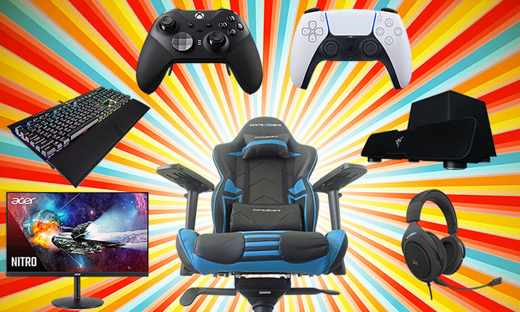 Console gaming accessories for living room or desk