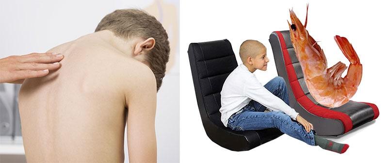 Poor posture sitting habits