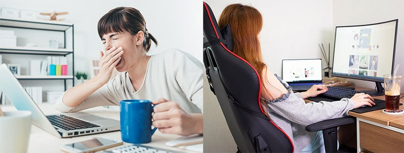 Gaming chairs improve work performance