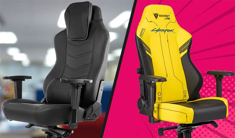 Office style versus colorful gaming chair style